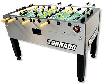 The Tornado Tournament 3000 foosball table in silver color