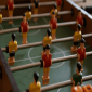 Red and yellow foosball players