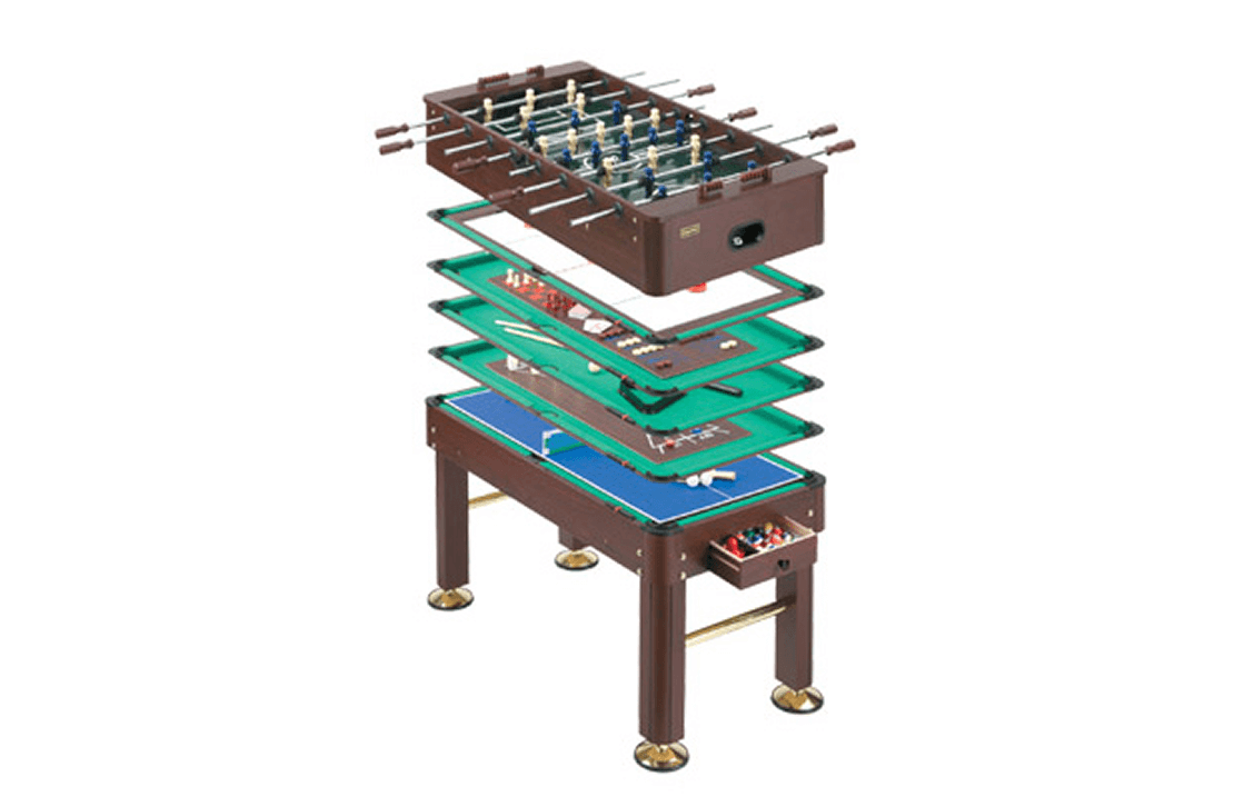Multi-game foosball table